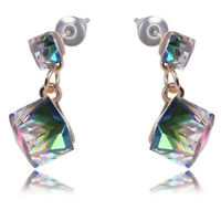 Crystal Rhinestone Earrings Zircon Stud Earrings Women Wedding Bridal Jewelry-US