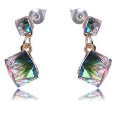 Pendientes de diamantes de imitación cristal Mujeres Boda Joyería nupcial