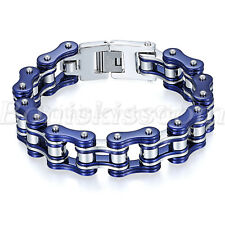 Biker Motorcycle Bike Chain Design Stainless Steel Bracelet Link Men's Jewelry