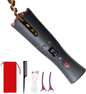 Cordless Curling Iron, Marcopele Automatic Hair Curler with 6 Temperature & Time