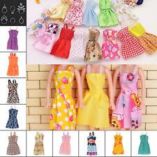 30pcs Lot Fashion Handmade Party Dress Clothes Outfits For Barbie set Dolls