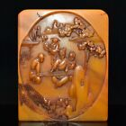Superb Old Chinese Shoushan Stone jade handcarved child playing Piano seal 148