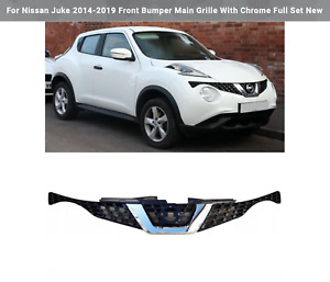 For Nissan Juke 2014-2019 Front Bumper Main Grille With Chrome Full Set New