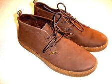 HUSH PUPPIES CHUKKA Solid Brown Nubuck Oxfords Boots Mens Sz 13 M NIB