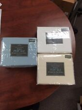 New 100% Egyptian Cotton Queen Perfect Percale Sheet Set (choose color), 400 TC