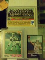 Lawrence taylor rookie card, Eli Manning, And Old New York Giants Card Lot Of 3