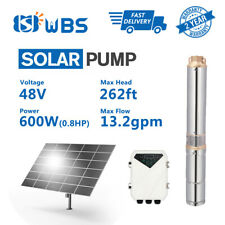 """3"""" DC Deep Well Solar Water Pump 48V 600W Bore Hole Submersible MPPT Controller"""