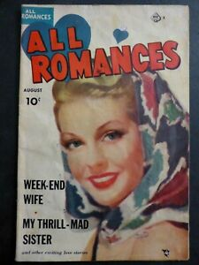 All Romances #6 ~ (1950 Ace)  ~ My Thrill-Mad Sister! ~ GD
