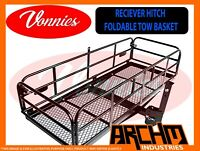 Vonnies - PREMIUM QUALITY HEAVY DUTY HITCH TOW BASKET WITH FOLDING SIDES