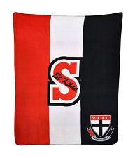 *NEW* LARGE Licensed AFL St Kilda Saints Polar Fleece Throw Blanket Gift