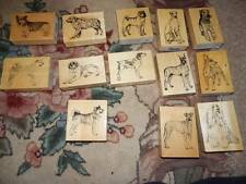 13 Dog Rubber Stamps on Wood Blocks by Stamp Gallery