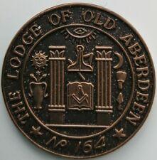 MASONIC MARK TOKEN PENNY THE LODGE OF OLD ABERDEEN No 164 SCOTLAND