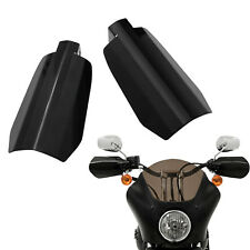 Memphis Shades Black Metal Coffin Cut Hand Guards for Harley Dyna Models