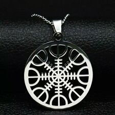 Stainless Steel Viking Compass Vegvisir Norse Helm Rune Celtic Pendant Necklace