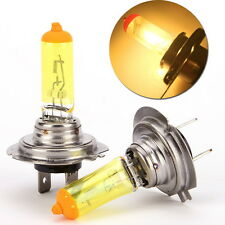 2pcs H7 12V 90W Golden Yellow High Beam Fog Light Bulbs 2600K Halogen Headlight