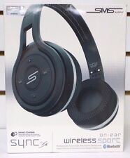 NEW  SMS Audio Bluetooth Wireless On-Ear Sport Headphone - Black By 50
