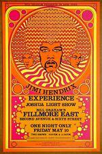 Jimi Hendrix Experience Fillmore East 68 Vintage Original David Byrd 3rd Poster