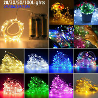 LED String Fairy Lights Wedding Christmas Party Garden Decoration Silver Wire
