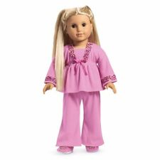 American Girl Doll clothing for Julie pink butterfly pajamas & slippers retired