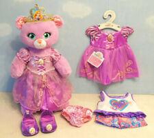 Build a Bear Lmtd Ed Princess Rapunzel - Song, Dress, Crown, Shoes, Heart Pj's