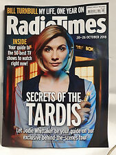 RADIO TIMES Magazine 20-26th October JODIE WHITTAKER 13th Doctor Who Cover