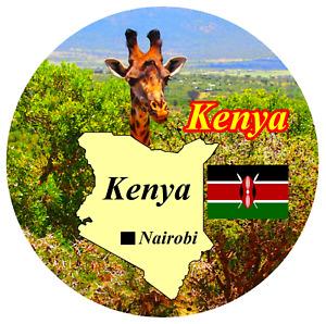 Kenya,Afrique - Carte / Drapeau - Grand Souvenir Nouveauté Frigo Aimant - Neuf /