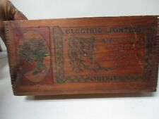 Early 1900's Edison General Electric Christmas Lighting Outfit Wood Box #1