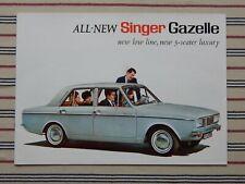 SINGER GAZELLE SERIES VII brochure (EXPORT) Feb 1967 (7511/EX/RHD 2/27/8) Arrow