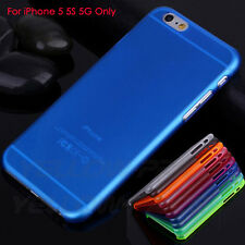 New 0.3mm Ultra Thin Blue Back Transparent Clear Case Cover Skin For iPhone 5 5S
