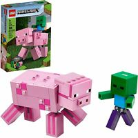 Lego Minecraft BigFig Pig with Baby Zombie 21157 New for 2020 FREE SHIPPING