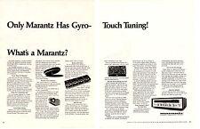 1970 MARANTZ GYRO-TOUCH STEREO RECEIVER ~ ORIGINAL 2-PAGE PRINT AD