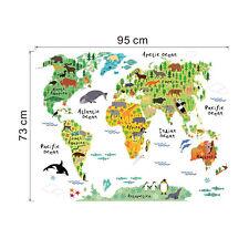 Grande WEAR Mappa del mondo cameretta bimbi decorazione Adesivo da parete
