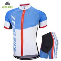 Mens Pro Road Cycling Outfits Jersey Shorts Kits Bicycle Shirt Tights Pants Set