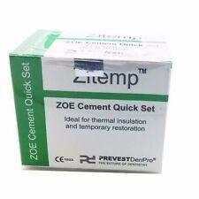 NEW Dental Prevest Zitemp Quick IRM Zinc Oxide Eugenol Temporal Cement 20g+10ml