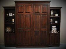 "Custom Built Queen Murphy Bed with 24"" Cabinets"