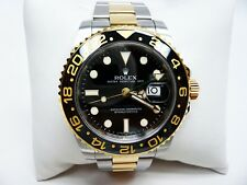 Rolex 116713 GMT-Master II SS 18K Gold Oyster Bracelet Box and Papers!