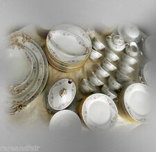 W Guerin Limoges dinnerware service for 12 - ca 1900 to 1932 - FREE SHIPPING