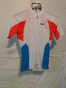 Louis Garneau Women's Beeze Vent Cycling Jersey White/Coral/Blue Large