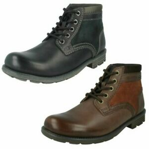 Clarks Mens Casual Ankle Boots Darian Mid