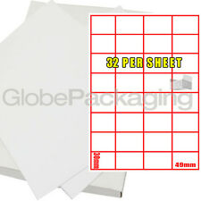 150 SHEETS OF PRINTER LASER LABELS - 32 PER PAGE SHEET