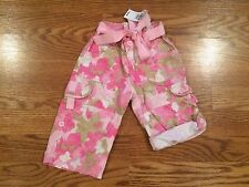 New Girls Kids Infant Toddler Children's Place Pink Butterfly Cotton Pants 12 M