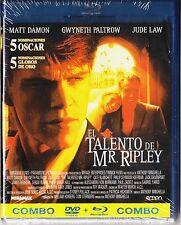 EL TALENTO DE MR. RIPLEY.  BLU-RAY y DVD. Tarifa plana en envío, 5 €
