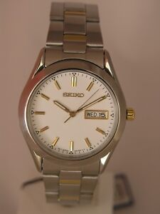 Seiko men watch 7N43 casual stainless steel SGf721