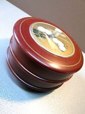 New ListingVintage Japanese Sewing Box Round 2 Tiers Hand painted Japan