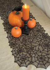 "Heritage Lace Spider Web Black runner 20"" X 80"""