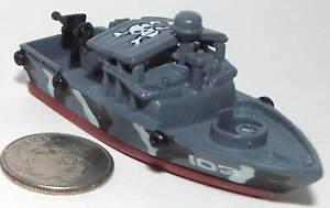 Small Micro Machine Plastic US Navy PBR 103 in Gray (Patrol Boat-River) Damaged