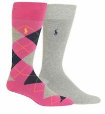 Polo Ralph Lauren Men's 2 Pack Argyle Dress Sock, Navy, 10-13
