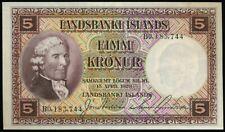 More details for iceland p.27c 1928 5 kronur banknote aunc