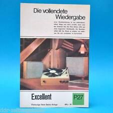 Excellent Heim-Stéréo-Annexe RDA 1968   prospectus publicité publicitaire feuille Dewag p27 C