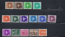 INDIA 1958 MAPS set (Sc 302-319 missing 2  1963 values) VF MH